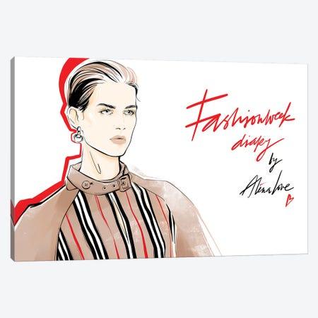Fashion Week Diary Canvas Print #LVD15} by Alena Lavdovskaya Art Print