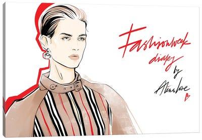 Fashion Week Diary Canvas Art Print