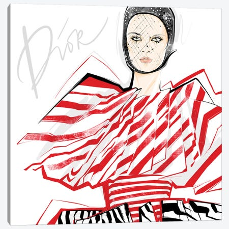 Fashion Week Dior 3-Piece Canvas #LVD16} by Alena Lavdovskaya Canvas Print