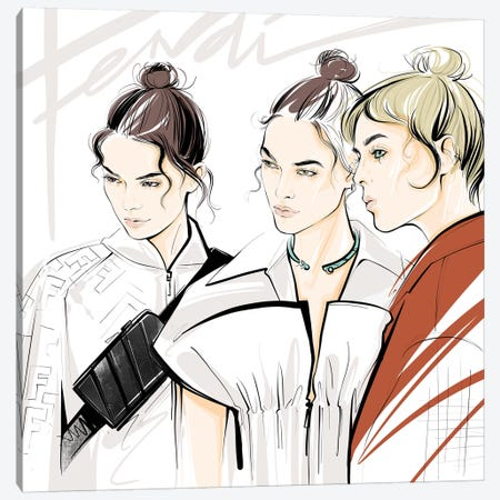 Fashion Week Fendi Canvas Print #LVD18} by Alena Lavdovskaya Canvas Artwork