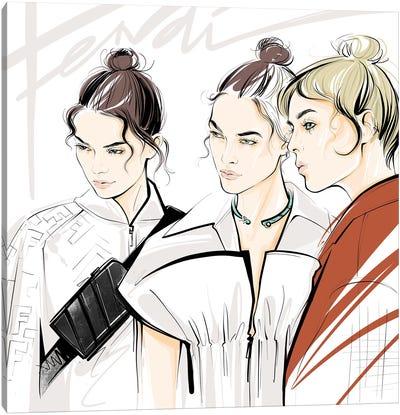 Fashion Week Fendi Canvas Art Print
