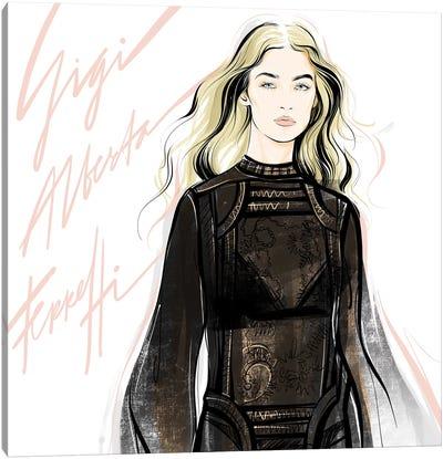 Fashion Week Gigi Canvas Art Print