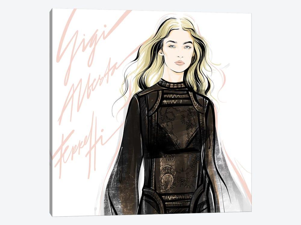 Fashion Week Gigi by Alena Lavdovskaya 1-piece Art Print