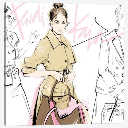 Fashion Week Kaia Canvas Print #LVD20} by Alena Lavdovskaya Art Print