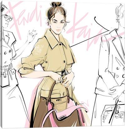 Fashion Week Kaia Canvas Art Print