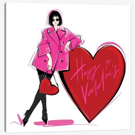 Happy Valentine's Canvas Print #LVD28} by Alena Lavdovskaya Canvas Art Print