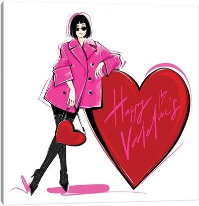 Happy Valentine's Canvas Art Print
