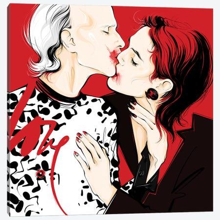 I'm Sticking With You Canvas Print #LVD30} by Alena Lavdovskaya Canvas Wall Art