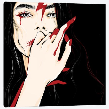 Bloodymary Canvas Print #LVD3} by Alena Lavdovskaya Art Print