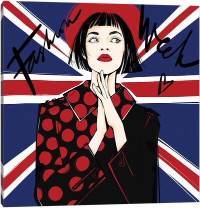 Off To London! Canvas Art Print