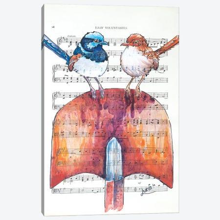 Table For Two Canvas Print #LVE108} by Luna Vermeulen Canvas Print