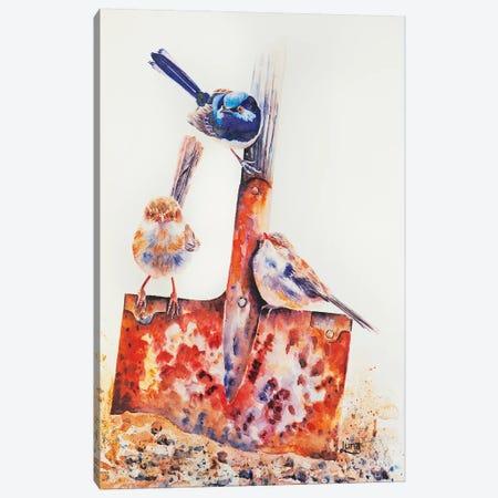 Three Of Spades Canvas Print #LVE113} by Luna Vermeulen Canvas Artwork