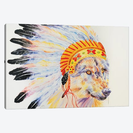 Throw Me To The Wolves Canvas Print #LVE114} by Luna Vermeulen Canvas Print