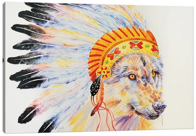 Throw Me To The Wolves Canvas Art Print