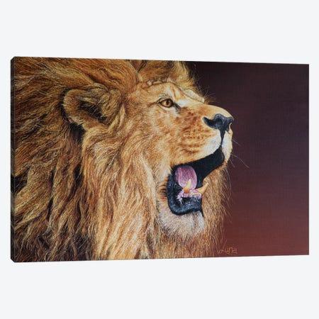 Bushfire 3-Piece Canvas #LVE11} by Luna Vermeulen Canvas Print