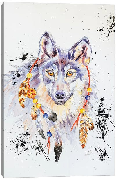 When I Was A Wolf Canvas Art Print