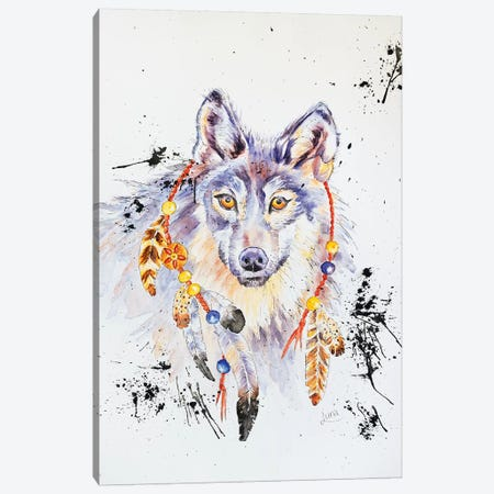 When I Was A Wolf Canvas Print #LVE123} by Luna Vermeulen Art Print