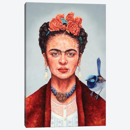 Frida Mania Canvas Print #LVE129} by Luna Vermeulen Canvas Print