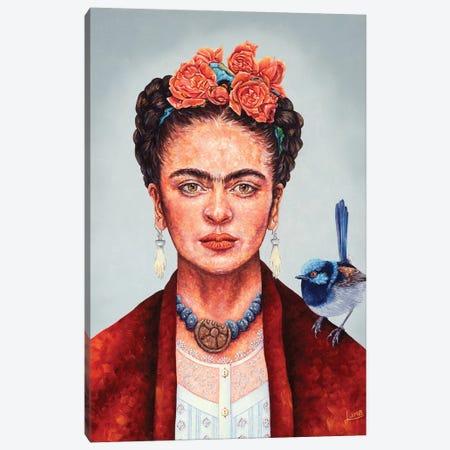 Frida Mania Canvas Print #LVE129} by Luna Vermeulen Canvas Print
