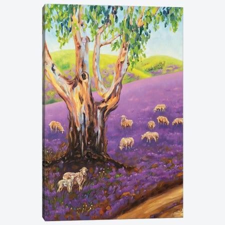 Purple Rain Canvas Print #LVE166} by Luna Vermeulen Canvas Artwork