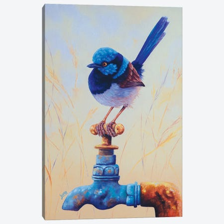 On Tap Of The World Canvas Print #LVE173} by Luna Vermeulen Canvas Wall Art