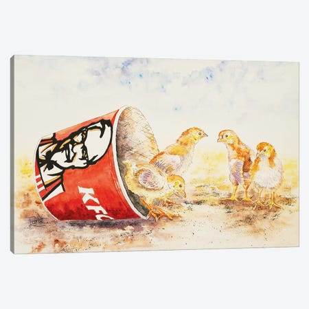 Still Feel Like Chicken Tonight? Canvas Print #LVE174} by Luna Vermeulen Canvas Art Print