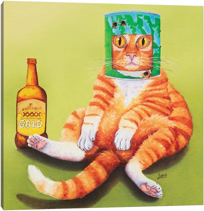 Ned Kitty In Isolation Canvas Art Print