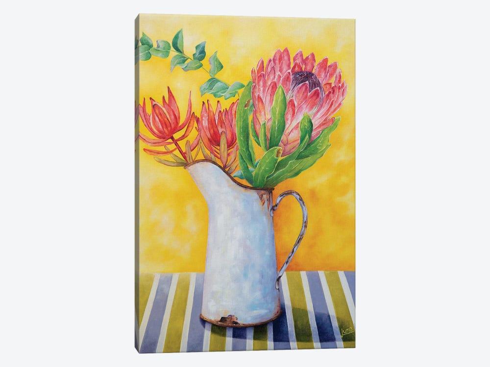 Crimson In Bloom by Luna Vermeulen 1-piece Canvas Art