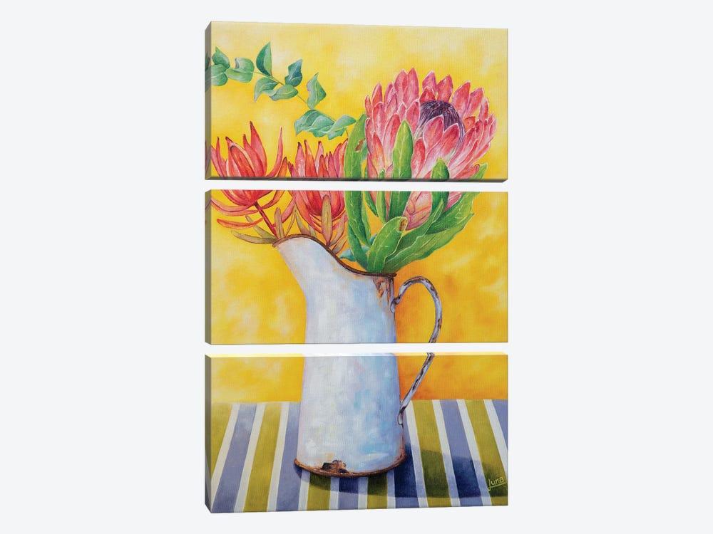 Crimson In Bloom by Luna Vermeulen 3-piece Canvas Wall Art