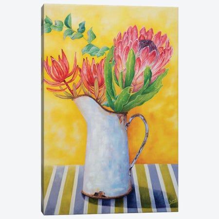 Crimson In Bloom Canvas Print #LVE17} by Luna Vermeulen Canvas Wall Art