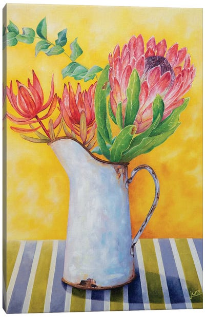 Crimson In Bloom Canvas Art Print