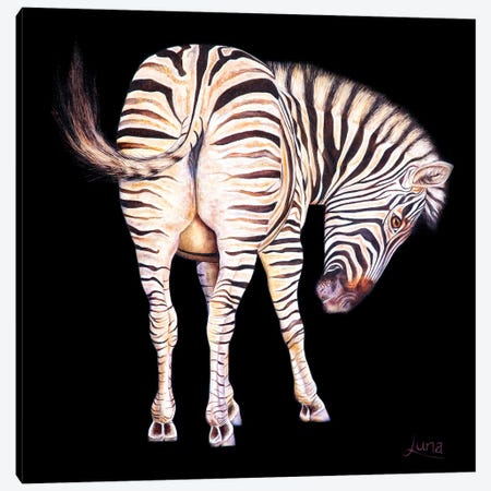 Sweet Cheeks 3-Piece Canvas #LVE185} by Luna Vermeulen Canvas Artwork