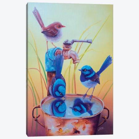Who'S The Fairiest Of Them All Canvas Print #LVE189} by Luna Vermeulen Art Print