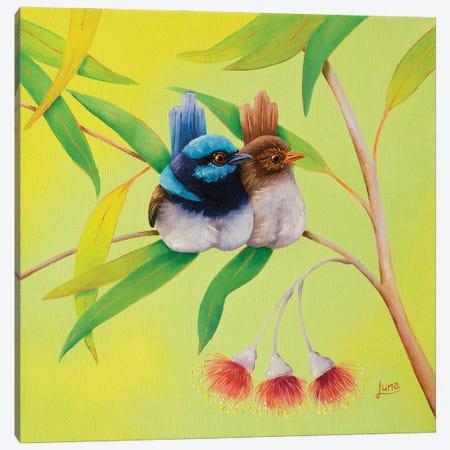 Nuggling Canvas Print #LVE190} by Luna Vermeulen Canvas Wall Art
