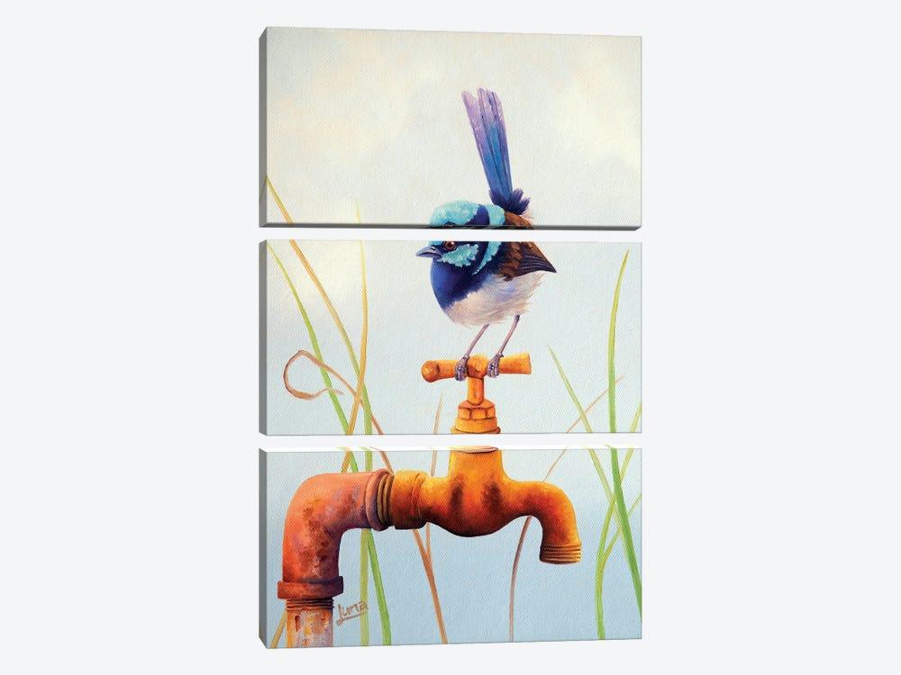 The Plumber by Luna Vermeulen 3-piece Canvas Art Print