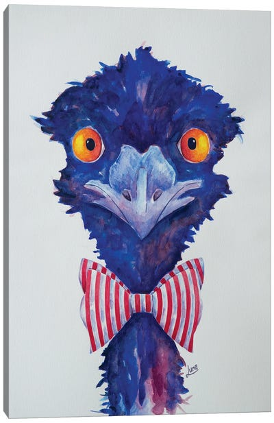 Mr Pinstripe Canvas Art Print