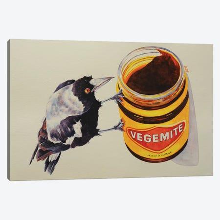 Curious Little Vegemite Canvas Print #LVE19} by Luna Vermeulen Canvas Print