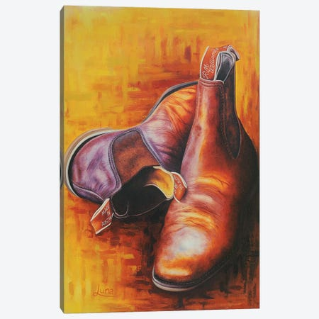 Drover's Best Mate Canvas Print #LVE23} by Luna Vermeulen Canvas Wall Art