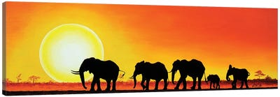 Elephant Walk Canvas Art Print