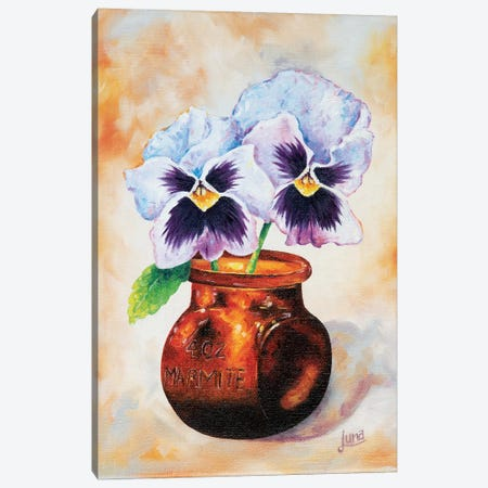 Fancy Pansy Canvas Print #LVE30} by Luna Vermeulen Canvas Print
