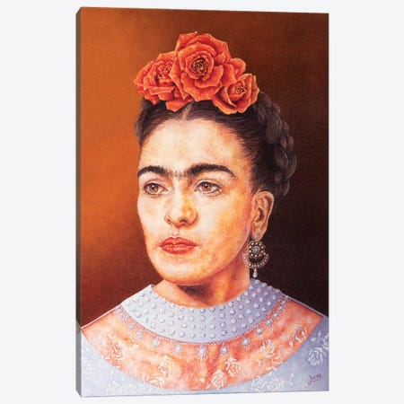 Frida In Chantilly Canvas Print #LVE34} by Luna Vermeulen Canvas Art