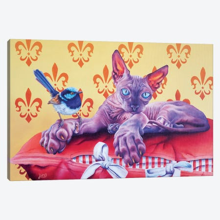 Friend Or Foe Canvas Print #LVE35} by Luna Vermeulen Canvas Artwork