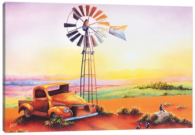 Goodmorning Flinders Canvas Art Print