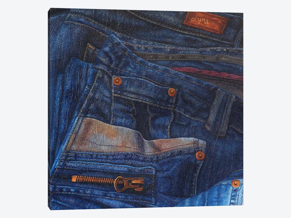Jean Junkie by Luna Vermeulen 1-piece Canvas Art