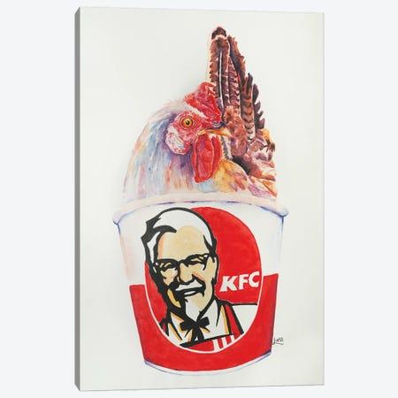 Kentucky Fried What Canvas Print #LVE57} by Luna Vermeulen Canvas Art