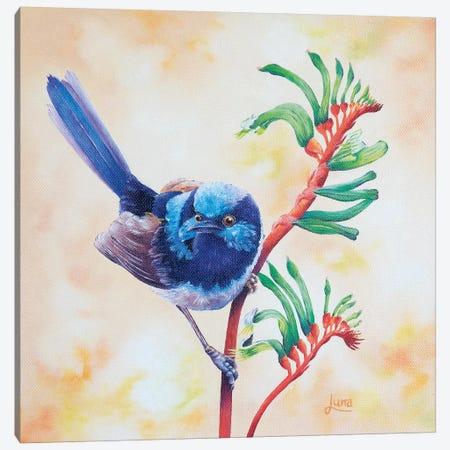 Little Boy Blue Canvas Print #LVE62} by Luna Vermeulen Canvas Wall Art