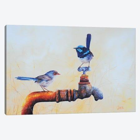 Local Watering Hole Canvas Print #LVE64} by Luna Vermeulen Canvas Art Print