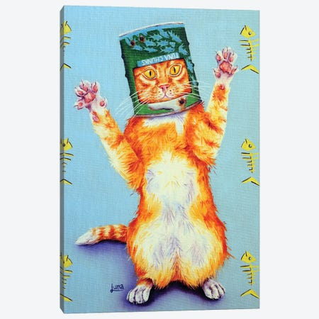 Ned Kitty Canvas Print #LVE78} by Luna Vermeulen Canvas Print