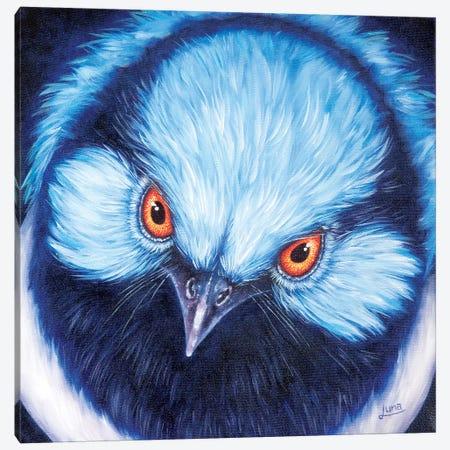 Blue Steel Canvas Print #LVE7} by Luna Vermeulen Art Print