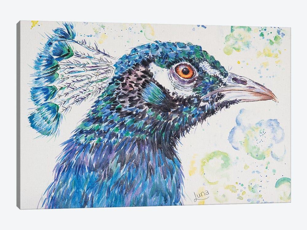 P Is For Peacock by Luna Vermeulen 1-piece Art Print